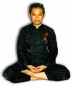 Half lotus poise for Zen sitting