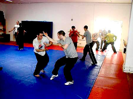 Shaolin Kungfu sparring