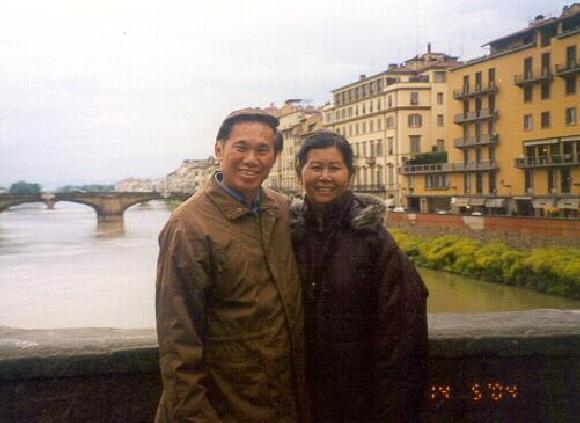 Sifu Wong and his wife in Italy