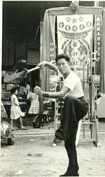 Sifu Lai Chin Wah demonstrating the Kwan Tou