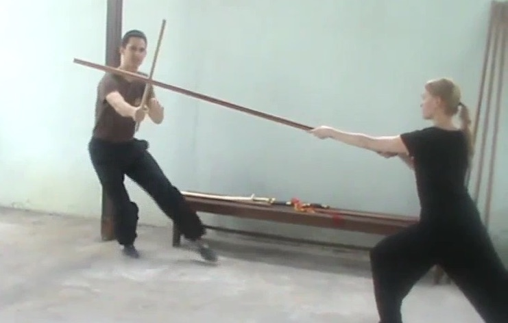 Deflecting a Spear with Sabre